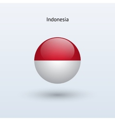 Indonesia round flag vector image