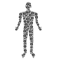 Info person figure vector