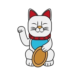 Isolated china cat design vector