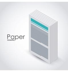 isometric paper icon design vector image