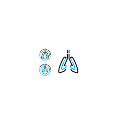 lung health logo icon technology vector image