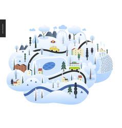 magical landscape concept vector image