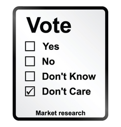 Market research vote sign vector