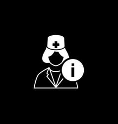 Medical services icon flat design vector