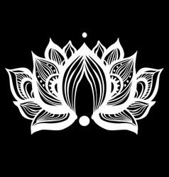 ornamental lotus flowers vector image