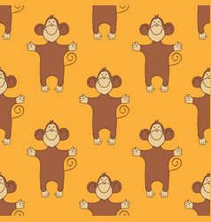 Pattern with monkeys vector