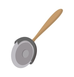 Pizza cutter icon cartoon style vector image