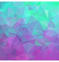 Polygonal square background Colors from green vector