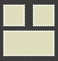 postage stamps collection postage stamps in flat vector image