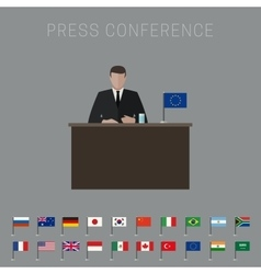 Press conference banner vector image