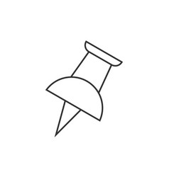 Push pin outline icon vector