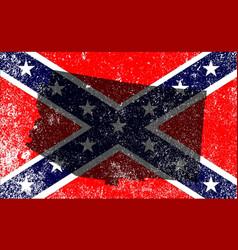 Rebel civil war flag with arizona map vector