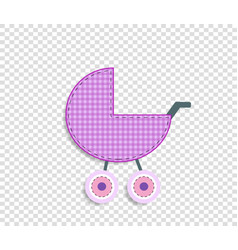 rose clip art stroller for scrapbook or baby girl vector image