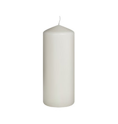 set of realistic white candles on white vector image