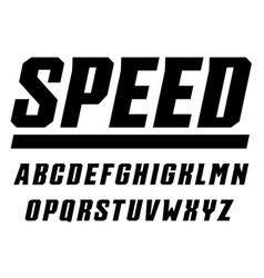Speed and sport letters set tall bold italic vector