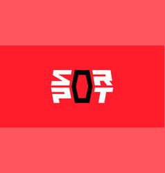 sport logo geometric design vector image