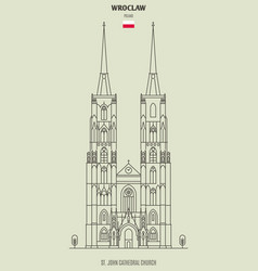st john cathedral church in wroclaw vector image