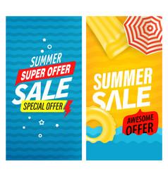 summer super sale banners set vector image