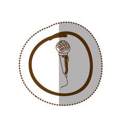 symbol microphone instrument icon vector image