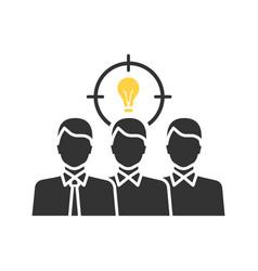 teamwork glyph icon vector image