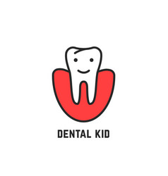 thin line icon children dentistry vector image