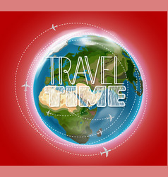 travel destination concept with logo go vector image