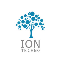 Tree ion technology logo vector