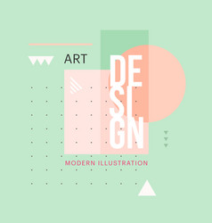 trendy minimalistic geometric shape design vector image