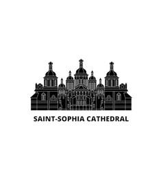 Ukraine kiev saint sophia cathedral flat travel vector