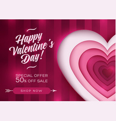 valentine day card background love sale deal vector image