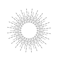 Vintage Linear Sunburst vector