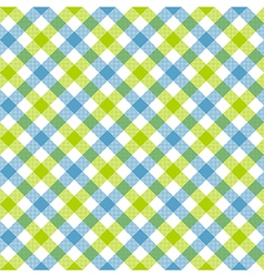 White green blue check plaid fabric texture vector