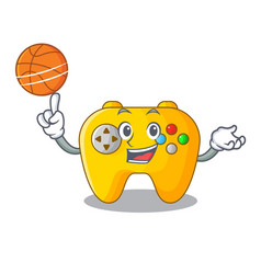 with basketball modern game shaped controller vector image