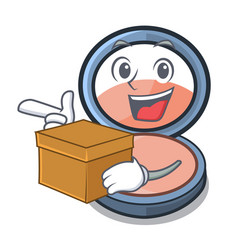 With box blosh on in the shape character vector