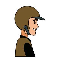 Worker portrait of delivery man with helmet vector