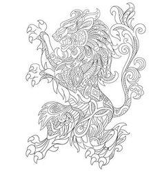 Zentangle stylized cartoon lion vector
