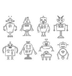 a robot mechanical vector image