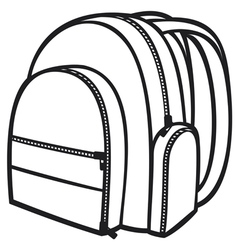 bag pack vector image vector image