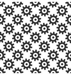 Black gears seamless pattern vector image