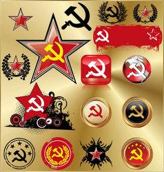 communist signs vector image