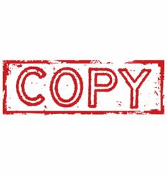 copy stamp label vector image vector image