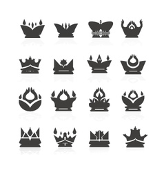 crown set for halloween vector image vector image