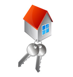 house and lock keys vector image