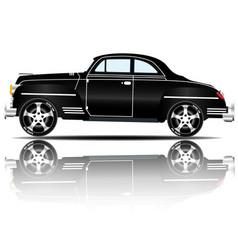 retro car black color white background imag vector image