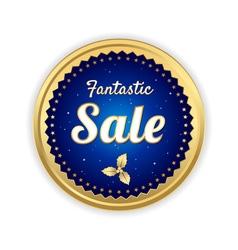 Retro promotion sale tag banner label vector image