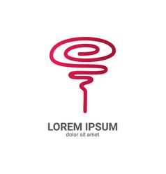 rose line logo design template vector image vector image