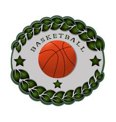 the theme basketball vector image vector image