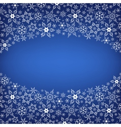 Winter ornamental frame with snowflakes vector image