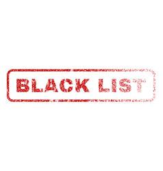 black list rubber stamp vector image
