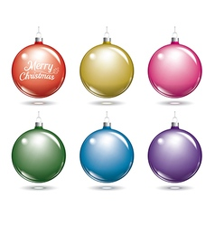christmas balls Set of isolated multicolor ball vector image vector image